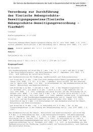 Verordnung zur Durchführung des Tierische Nebenprodukte ...