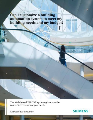 Can I customize a building automation system to meet my ... - Siemens