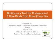Birding as a Tool For Conservation: A Case Study from Rural Costa ...