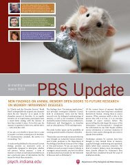 Spring 2013 Newsletter - Department of Psychological and Brain ...