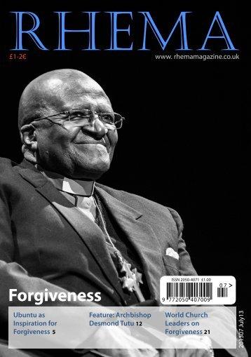 July 2013 Issue - Rhema Magazine