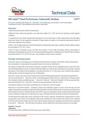 HiCombi™ Dual Performance Salmonella Medium - HiMedia ...