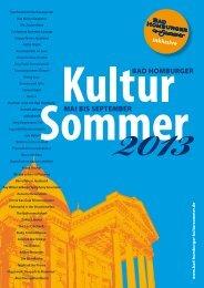 Programm 2013 - Bad Homburger Kultursommer