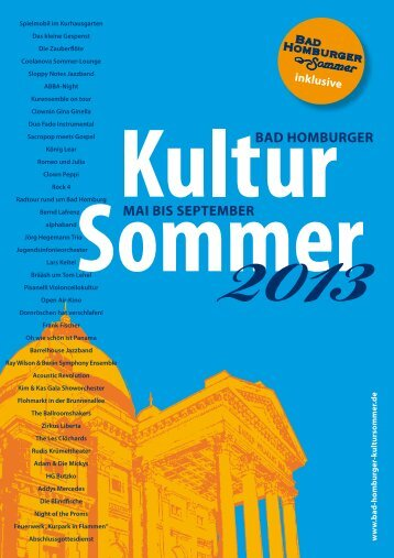 Programm 2013 - Bad Homburger Kultursommer
