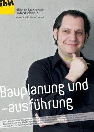 Broschüre Bauplanung und - ibW Höhere Fachschule Südostschweiz