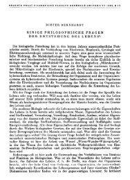 EINIGE PHILOSOPHISCHE FRAGEN DER ENTSTEHUNG DES ...
