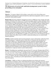 Electronic medication management system ... - E-Health Insider