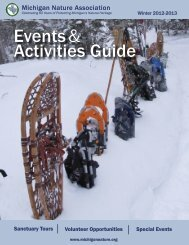 Events& Activities Guide - The Michigan Nature Association