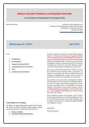 Mitteilungen der Sektion 2/2013 - Sektion Soziale Probleme und ...