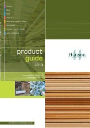 product guide - Hanson Plywood