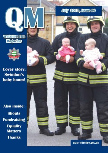 Cover story: Swindon's baby boom! - Wiltshire Fire & Rescue Service