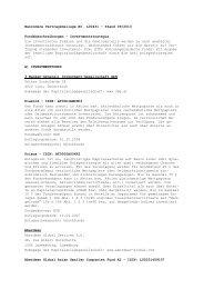 CleVesto Anlagestrategien Platinum / Fondssparplan (BVB 00431)