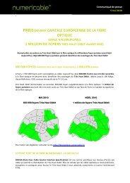 parisdevient capitale europeenne de la fibre optique - Numericable