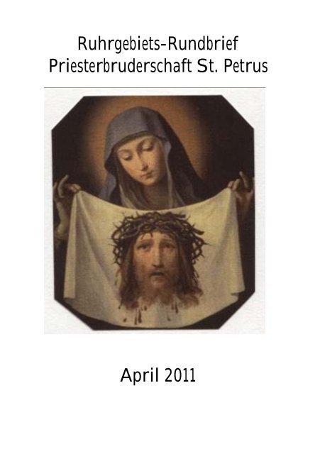 St priesterbruderschaft Niklaus Pfluger