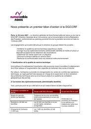Noos présente un premier bilan d'action à la DGCCRF - Numericable