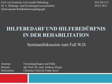 Präsentation - Prof. Dr. med. Andreas Zieger