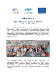 Kurzbericht COHAB Summer School in Litauen - Wirtschafts