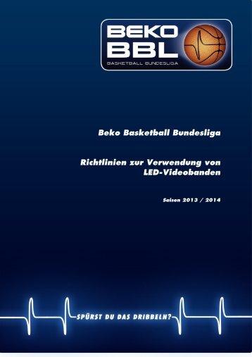 Beko BBL-Richtlinie zur Verwendung von LED-Videobanden 2013 ...