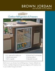 Outdoor Refrigerators & Freezers - Brown Jordan Outdoor Kitchens