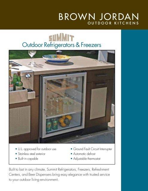 Outdoor Refrigerators & Freezers - Brown Jordan Outdoor Kitchens