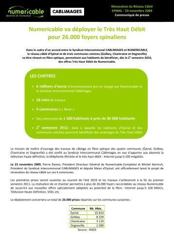 Numericable va déployer le Très Haut Débit pour 26.000 foyers ...