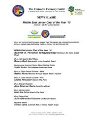 The Emirates Culinary Guild NEWSFLASH!