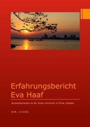 Haaf Eva WS 2012-13_Erfahrungsbericht_Studium_Qingdao_China