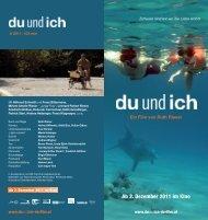 Ab 2. Dezember 2011 im Kino - du und ich – ein Film von Ruth Rieser
