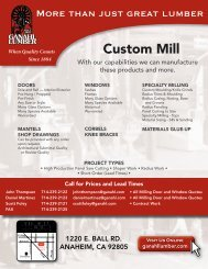 Download the custom mill brochure - Ganahl Lumber