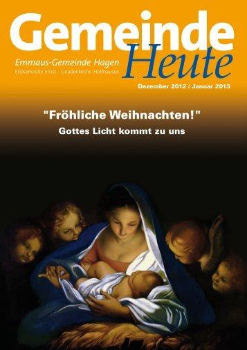 """""""Fröhliche Weihnachten!"""" - erloeserkirche-hagen.de"""