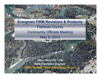 Evergreen FIRM Revisions and Products - DNRC