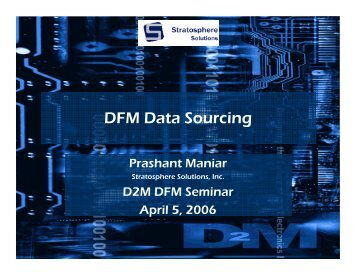 DFM Data Sourcing - Pivotal Enterprises Pivotal Enterprises