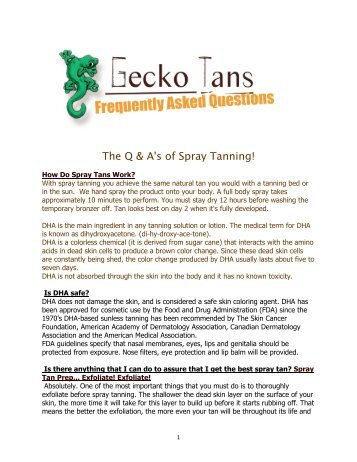 The Q & A's of Spray Tanning! - Gecko Tans