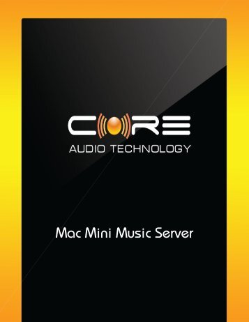 Download the User Manual + Setup Guide - Core Audio Technology