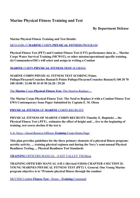 Download Marine Physical Fitness Training and Test pdf