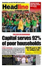 P82-M paid to JBL for indigent folk - Headline Gitnang Luzon