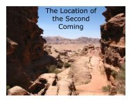 The Location of the Second Coming - Congregation Yeshuat Yisrael