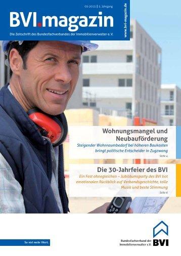 Die komplette Ausgabe als PDF-Download (2 MB) - BVI Magazin