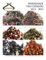 wholesale tea catalog 2012 - 2013 - World Flavorz