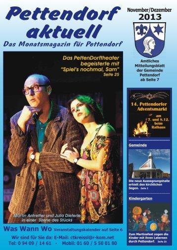 Das Monatsmagazin für Pettendorf - Gemeinde Brennberg