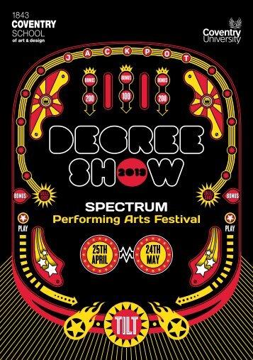 SPECTRUM listings brochure - Degree Show