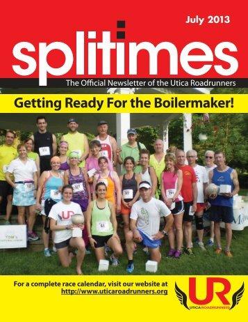 JULY 2013 - Utica Road Runners Club