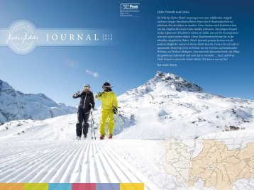 JOURNAL 2013 - Die Huber Hotels in Tirol