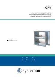 Montage- und Betriebsanleitung für Installation and ... - Systemair