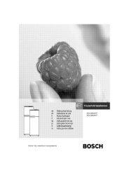 Bosch KSU 30622FF Fridge Freezer Operating Instructions User ...
