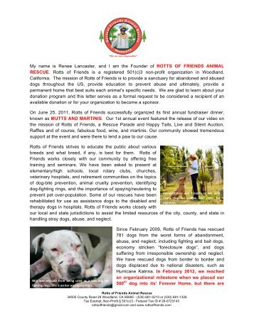 Sponsorship Letter With Photos 2-26-13 - Rotts of Friends