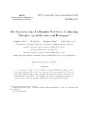 The Construction of 4-Regular Polyhedra Containing Triangles ...