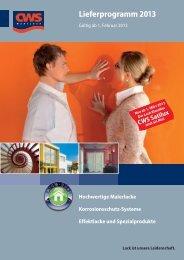 Lieferprogramm 2013 - CD-Color GmbH & Co.KG