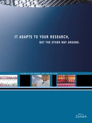 IT ADAPTS TO YOUR RESEARCH, - High-Throughput Bioscience ...