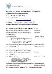 MIW Master: Kurs Moderne optische Verfahren 2, ME4160, SS 2013 ...